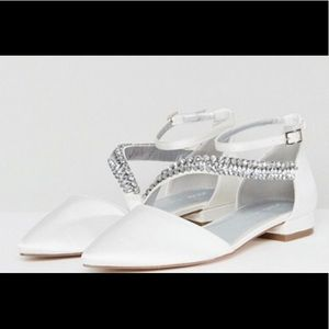 ASOS Lets Get Married D'Orsay Ankle Strap Flats